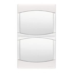Plaque double Arnould Initia - entraxe 57 - Lumière