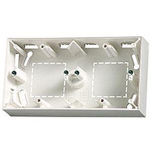 Cadre double Arnould horizontal blanc