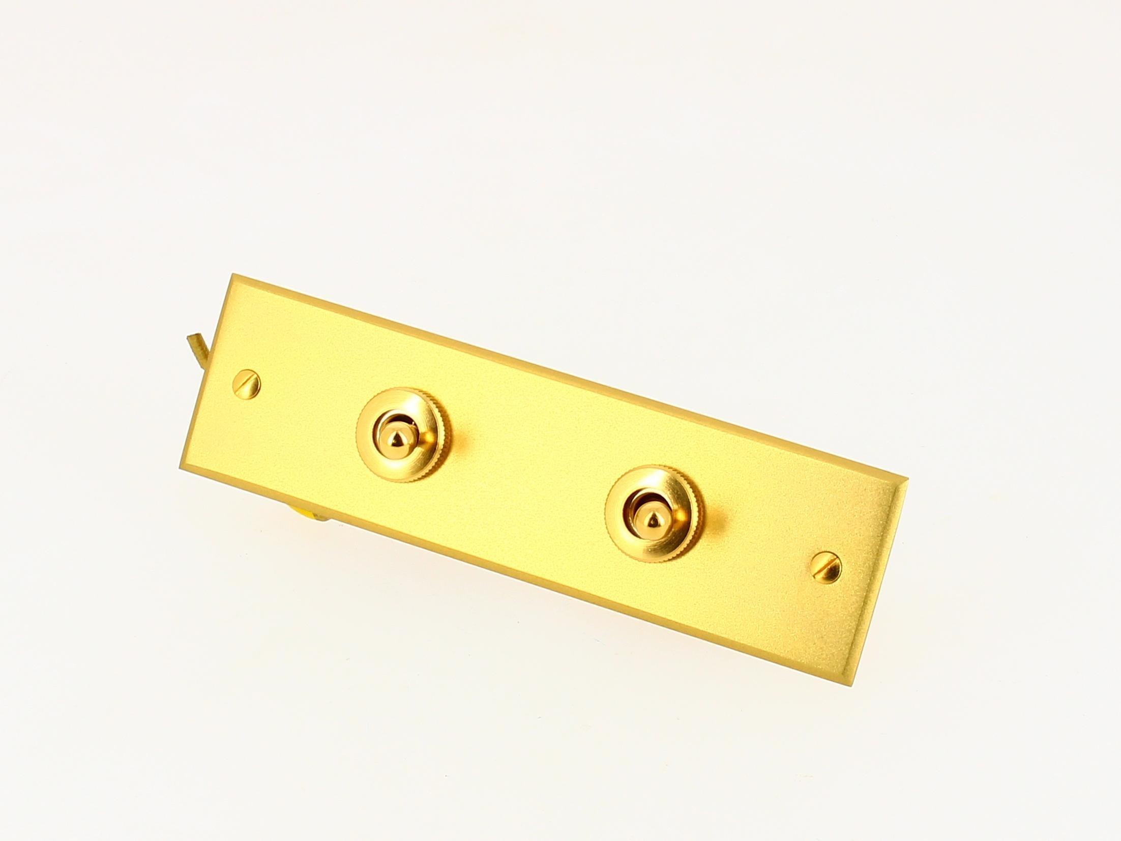 Interrupteur 2 boutons levier Or brossé Arnould Europa