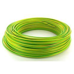 Cable HO7V-U 1,5 mm2 Vert/Jaune C100m (Prix au m)