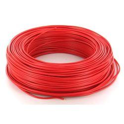 Cable HO7V-U 1,5 mm2 Rouge C100m (Prix au m)