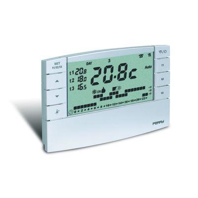 Chronothermostat digital hebdomadaire 3V série Zefiro