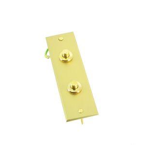 Arnould Europa Plaque rectangle 2 boutons poussoirs or brossé