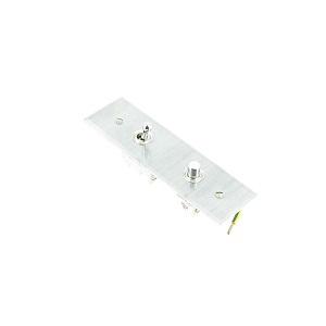 Interrupteur 1 levier et 1 bouton poussoir argent+plexiglass Europa
