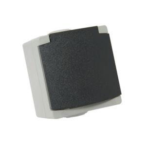 Prise de courant 2p+t Perle Debflex 10/16a gris s/film ip65