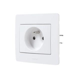 Diam 2 Debflex Prise de courant 2p+t blanc