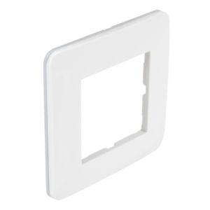 Casual plaque simple  blanc brillant