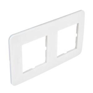 Casual plaque double  blanc  brillant