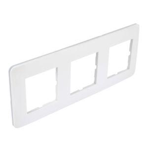 Casual plaque triple  blanc brillant