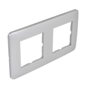 Casual plaque double  silver