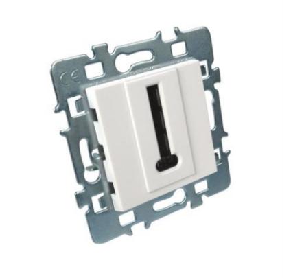 Prise télephone Casual Debflex + cache blanc + support métal