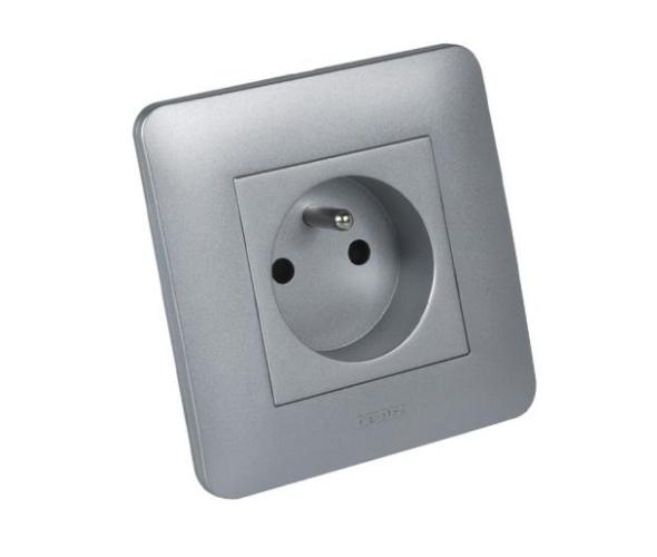 Prise de courant Casual Debflex 2P+T Full Aluminium