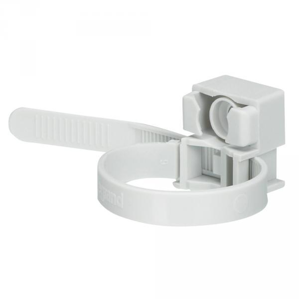 Collier à embase - utilisation int - pour tube Ø16 à 32 - gris RAL 7035