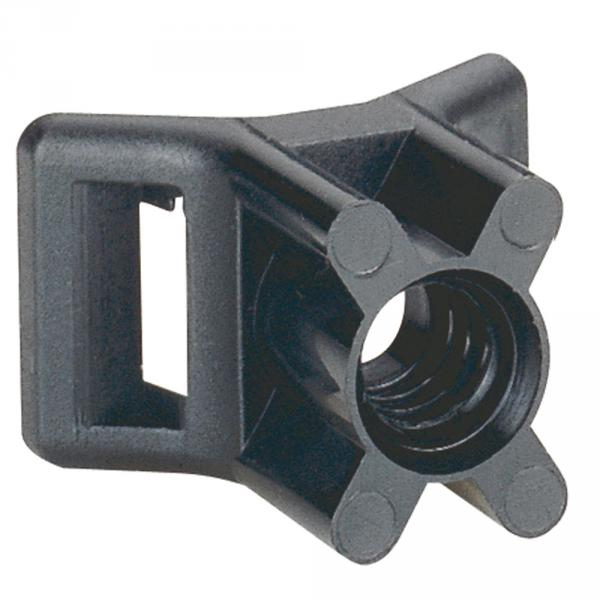 Embase à visser - protégé UV - fixable par cheville réf. 319 57 - noir