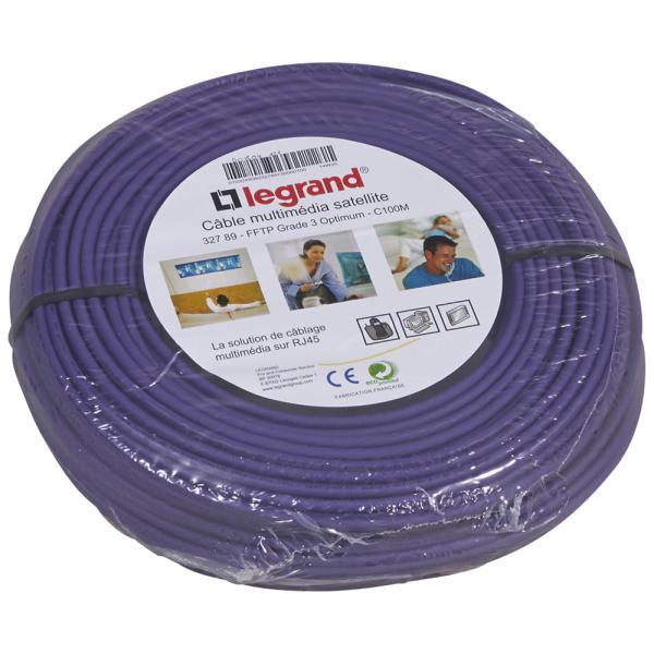 Cable grade 3 multimédia tv + satellite fftp - lhso - 100 ohms - long. 100 m - Legrand