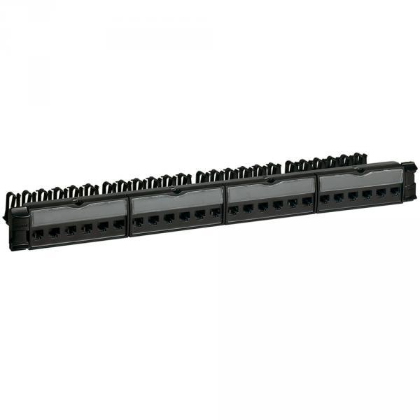 Panneau de brassage équipé - 19'' - 1 U - Cat.6 - STP - Blindage métal - LCS²