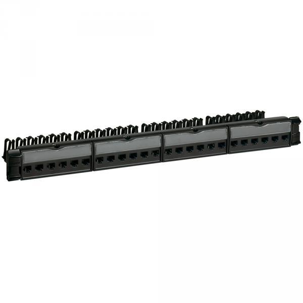 Panneau brassage équipé-19' - 1 U - Cat. 6A - STP - blindage métal - LCS2