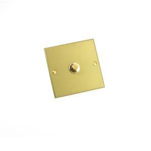 Interrupteur Europa à bouton poussoir Or - Jaspe - 2A - 250V