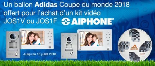 1 ballon Adidas Coupe du monde 2018 offert pour l'achat d'un kit vidéo Aiphone
