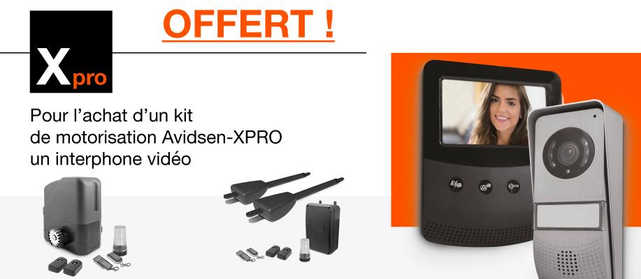 1 interphone vidéo offert pour l'achat d'un kit de motorisation