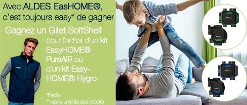 Gagnez un gilet SoftShell pour l'achat d'un kit ALDES EASYHOME PureAIR ou Hygro