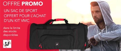 PROMO : Un sac de sport offert pour l'achat d'un kit VMC Unelvent