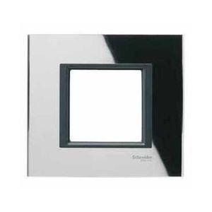 Schneider Unica Class Miroir Noir Liseré Noir Plaque De Finition 1 Poste 2 Modules