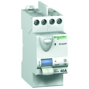 Schneider Duoline Xp Interrupteur Différentiel Idclic 2p 40a 30ma Type A Peignable