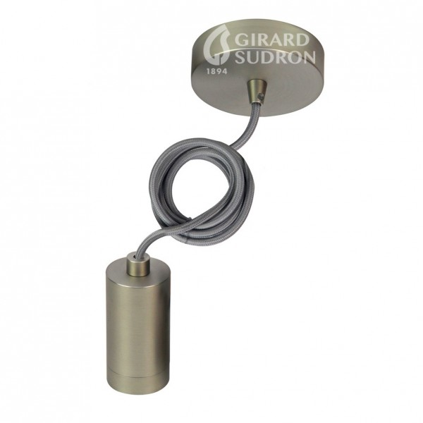 Monture et douille E27 Métal Bronze câble noir 2M Girard