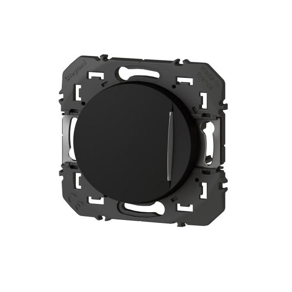 Legrand 095262 Interrupteur Ou Va Et Vient Avec Voyant Lumineux 10 Ax 250 V Finition Noir Dooxie